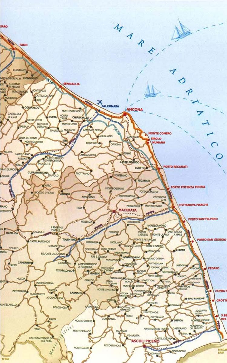 Cartina Topografica Marche.Cartine Geografiche Cartina Marche