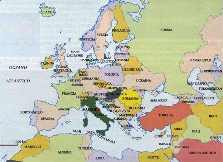 Cartine geografiche/marche regione italia cartina paesi europei