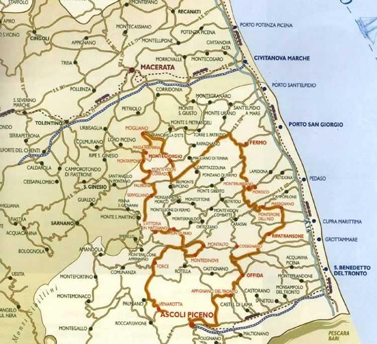 Cartina Stradale Civitanova Marche.Cartine Geografiche Piantina Marche Macerata Ap